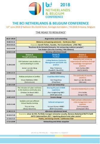 BCI NL BE Conference 2018 Program